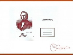 Zeszyt do nut, A5 Chopin, Marcus